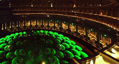 Now you know how many shrooms it takes to fill the Albert Hall ... (lunaryuna) Tags: uk london royalalberthall venue event livescreening thematrix fun lopsided urbanfungi architecture light colours lunaryuna panorama stitchedpano