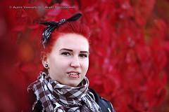 Ira (AV art) Tags: girl woman redhead ginger fall autumn photoshoot rock rebel ruska syksy punapää punahiuksinen tyttö nainen lehdet