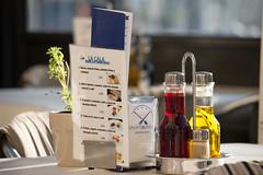 (Bantamgirl) Tags: condiments table menu oilandvinegar oliveoil