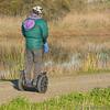 Segwaying His Way Through The Marsh (Romair) Tags: segway cortemaderamarsh rogerjohnson