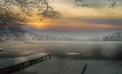 Sky (augustynbatko) Tags: sky lake winter snow ice clouds pier trees landscape nature niebo jezioro zima śnieg lód chmury pomost woda drzewa krajobraz
