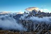 Dolomites (hunblende) Tags: dolomites nature nopeople cloudysky italy mountains hiking abovetheclouds dolomiti