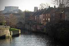 River Wensum [24/365 2017] (steven.kemp) Tags: norwich river wensum castle church riverbank grass houses quayside buildings water trees anchor quay people