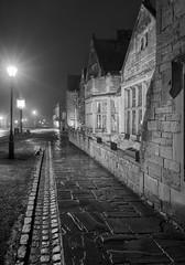 Streets of Broadway (jactoll) Tags: broadway worcestershire cotswolds darkstreets fog foggy mist misty monochrome mono black white bw winter appicoftheweek sony a7ii zeiss 1635mmf4 jactoll