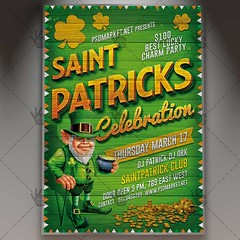 Saint Patrick's Celebration – Premium Flyer PSD Template (psdmarket) Tags: clover festival goldpot green irish luckycharm march patrick pattrick saintpatricksdat stpatricksflyer stpatricksday