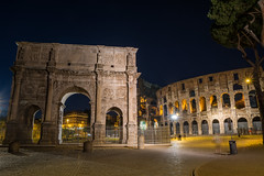 Arch of Constantine and Colosseum - Rome - Italy
