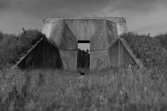 Gate (PimvandeVelde) Tags: bw holland blakandwhite netherlands concrete nederland groningen beton marne pimvandevelde