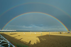 Double rainbow (JarHTC) Tags: sea landscape seaside rainbow poland baltic fujifilm sopot xe2