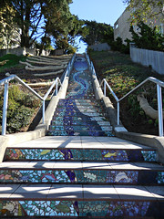 Mosaic Steps (kenjet) Tags: sf sanfrancisco city color stairs tile pattern mosaic patterns steps tiles 16th moraga 16thavenue mosaicstairs mosaicsteps 16thavenuesteps