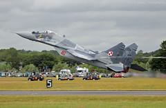 Polish Air Force MiG-29A (Neil D Evans) Tags: display aircraft aviation military polish airshow airforce airshows fairford riat mig29 fulcrum