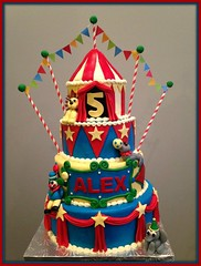 Circus cake by Hannah, Loudon County, VA, www.birthdaycakes4fre.com