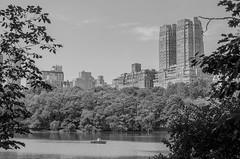 respite (viniciusdsr) Tags: park nyc travel parque sky bw usa lake newyork building tree water gua lago mono boat nikon barco centralpark monochromatic pb cu viagem prdio pretoebranco novayork monocromtico blackwhitephotos