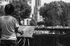Painting (Vince_Ander) Tags: street city light people blackandwhite bw white streetart black paris france love monochrome canon painting outside photography eos photo europe noir cityscape photographie noiretblanc walk candid streetphotography sigma nb peinture streetphoto extrieur blanc blackdiamond whiteandblack blancetnoir streetphotographer photoderue greatphotographers 70d theunforgettablepictures simplysuperb flickrunitedaward canoneos70d eos70d