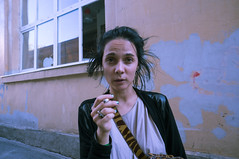 lola (tosyachaikina) Tags: summer portrait people black girl eyes friend russia smoke lovely cigarettes emotions meet