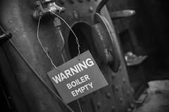 Warning Boiler Empty (-(Jonathan)-) Tags: old light england tractor train downs countryside kent village diesel north working railway steam area wooded bredgar bwlr bredgarwormshilllightrailway wormshill 2footgaugeline
