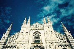 Milan (cranjam) Tags: italy milan film church architecture lomo lca xpro lomography italia cathedral kodak spires milano gothic chiesa tungsten duomo architettura duomodimilano gotica guglie ektachrome64t