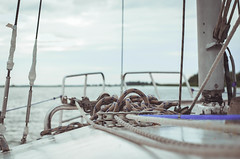 (youminor) Tags: sea summer sky clouds river yacht horizon rope rest slings