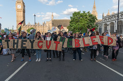 They Cut We Bleed (The Weekly Bull) Tags: london budget protest parliament demonstration parliamentsquare conservativeparty austerity dpac georgeosborne spendingcuts torycuts peoplesassembly disabledpeopleagainstcuts austeritykills torybudget ballstothebudget
