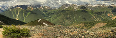 Melanie Hiking View_Panorama5 (maryannenelson) Tags: mountains southwest landscape outdoors colorado silverton wildflowers peaks melaniehighlands