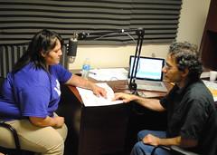 Flo Garrett and Armik Mirzayan recording Arikara