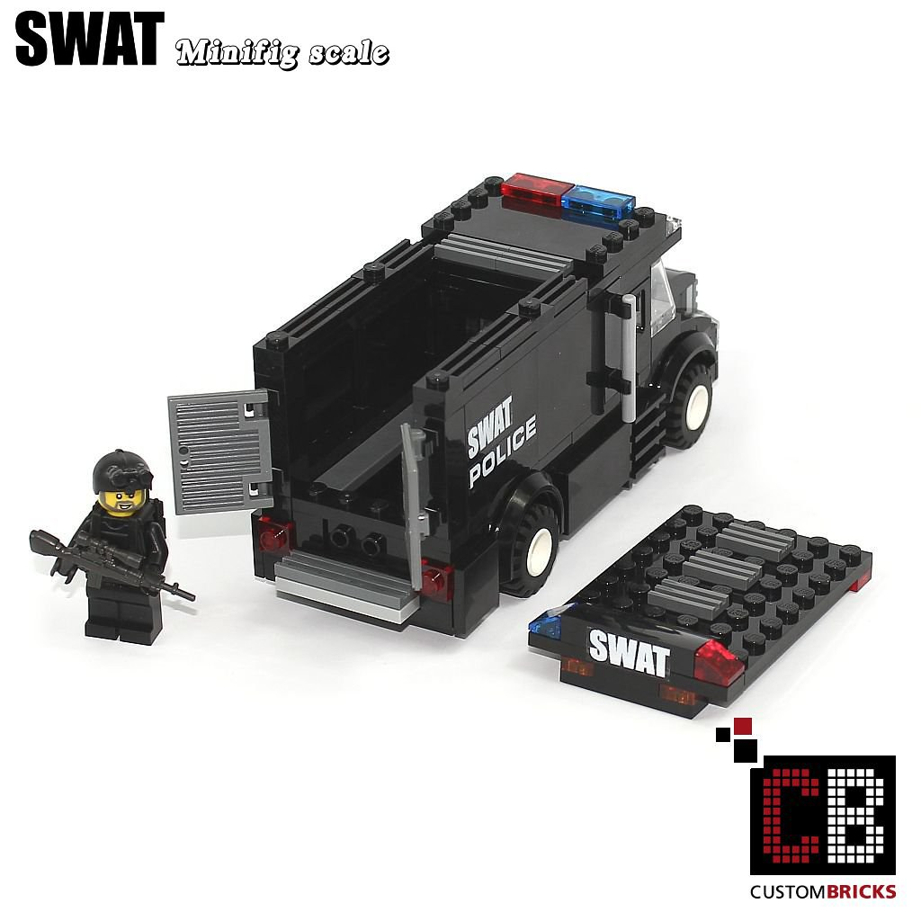 how to make a lego swat truck