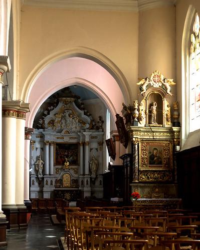 Hondschoote, Nord, Flandres, église Saint-Vaast, altar of saint Nick