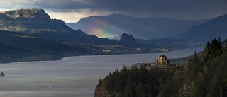 Rainbow in the Columbia River Gorge