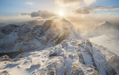 An Teallach, Sgurr Fiona (Uldis K) Tags: anteallach sgurrfiona highland scotland scottish blizzard snow mountain mountains westerross dundonnell landscape sunset winter uk