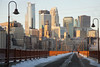 Frozen Minneapolis (Lucie Maru) Tags: cold winter sunrise sunup minneapolis city ice snow north bridge running morningrun crossingbridge town downtown architecture buildings tallbuildings citybuildings urban cityview skyline minneapolisskyline bridgeovermississippiriver frozen