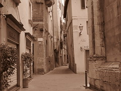 Lucca, Italy (RoccerSoccerDave) Tags: italy lucca sepia sx220hs street powershot