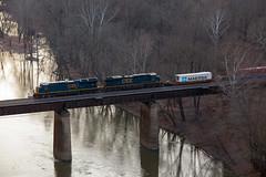 CSX Q136 - Paw Paw, WV (T-3 Photography) Tags: csx railroad train mountains westvirginia