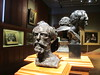 Bust of Alphonse Legros (front) and Ambrose McEvoy (right). (maggie jones.) Tags: london npg artgallery