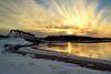 Fin de journée d'hiver (pascal_roussy) Tags: hiver winter coucherdesoleil sunset eau nuage soleil paysage landscape canada québec gaspésie nature neige nikon d3100