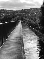 Bridging the divide - Pontcysyllte (llocin) Tags: pontcysyllte pontcysyllteaquaduct monochrome telford thomastelford victorian history architecture