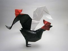 Gallos (Alexander Oliveros) Tags: gallo origami origaminutos alexorigami