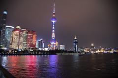 Night View D7C_2378 (iloleo) Tags: china shanghai skyline urban modern lights nikon d750 cityscape night nightlife reflection red tower architecture skyscraper