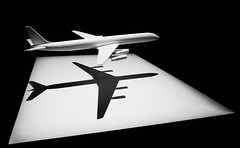 A Model of a DC-8 (Steve Taylor (Photography)) Tags: model dc8 art minimalism minimalist contrast newzealand nz southisland canterbury christchurch shadow monochrome blackandwhite monotone plane aeroplane aircraft