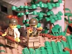 Cleared (brickdetailer) Tags: war lego build building battle pillbox green grey gray garand