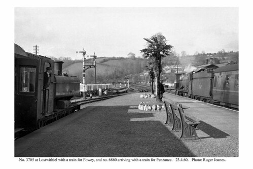 Lostwithiel. Fowey and main line trains. 23.4.60
