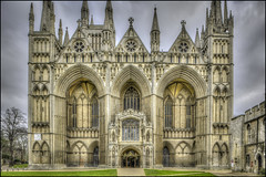 Peterborough Cathedral exterior (Darwinsgift) Tags: peterborough cathederal cambridgeshire hdr nikkor pce 24mm f35 nikon d810 photomatix architecture cathedral