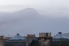 Oh Arthur's Seat, you tease... (Daveybot) Tags: edinburgh holyroodpark arthursseat mist fog roofline rooftop rooftops