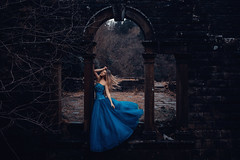 Midnight (Adam Bird Photography) Tags: adambirdphotography adambird cinderella blue dress glass slipper shoe fairytale narrative story ruins castle
