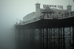 Brighton Pier (Jake.Woodier) Tags: brighton pier mist ocean sea beach sussex uk britain weather fog history reflection outdoors infinity home south