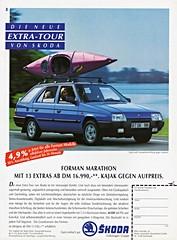 1992 Skoda Forman (German Ad) (aldenjewell) Tags: station wagon republic czech ad german 1992 forman skoda