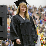 "<b>Commencement 2015</b><br/> Christina Hammerstrom walks off stage after receiving her diploma. Commencement 2015. Photo by Aaron Lurth<a href=""http://farm1.static.flickr.com/294/18198837070_fbd4a3f97f_o.jpg"" title=""High res"">∝</a>"