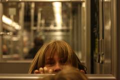Filemon (Marlena F.) Tags: life light boy berlin girl kids digital train canon underground evening abend mood colours adventure ubahn babysitting kidz rudow u7 alongwayhome 1000d