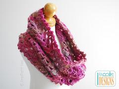 Infinity Scarf Iryna PDF Crochet Pattern by IraRott Inc. (Ira Rott) Tags: scarf pattern lace crochet chunky infinityscarf