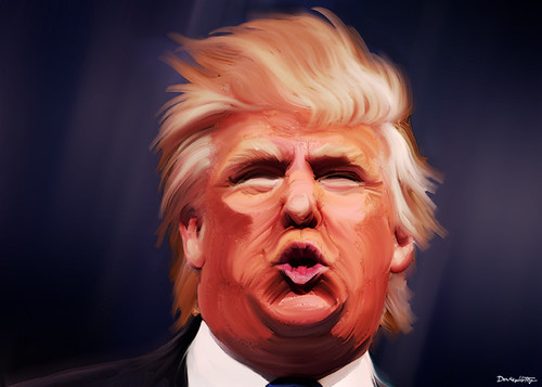 From flickr.com: Donald Trump Caricature {MID-70442}