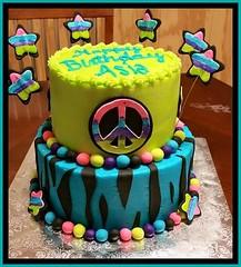 Peace cake, Randolph, NC, www.birthdaycakes4free.com