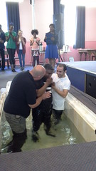 Great evening baptising these great people at restore church on 21 june 2015